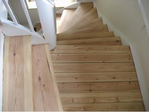 afhøvlig af trapper