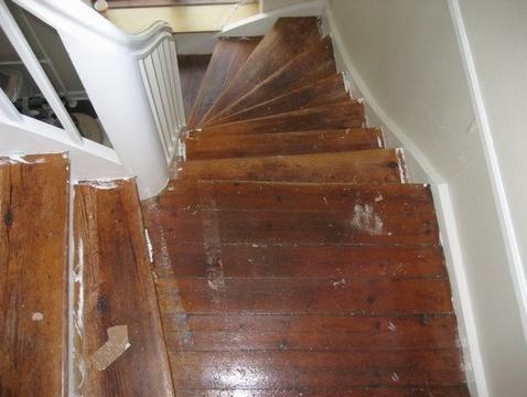gulvafslibning trappe